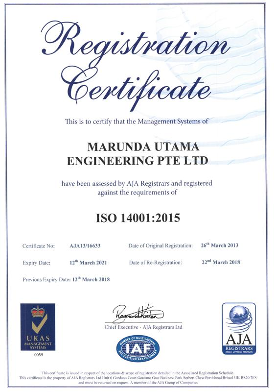 UKAS-ISO-14001-2015 Certification
