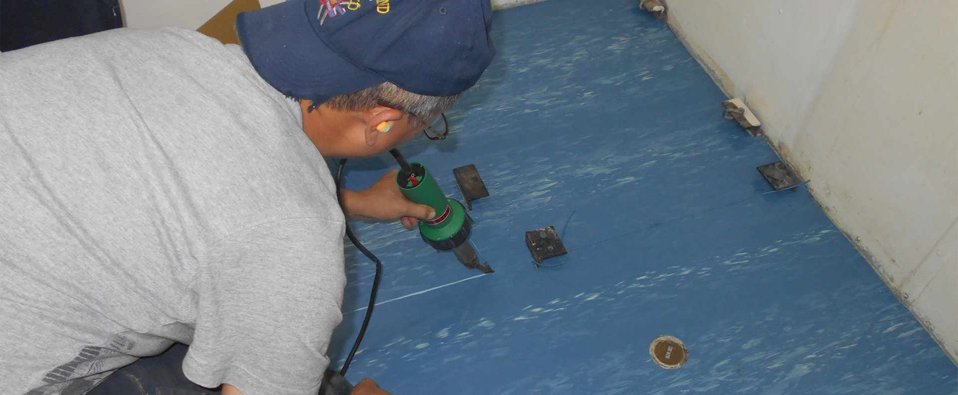 Installation of US Navy Approved/Mil-Specs Electrical Matting