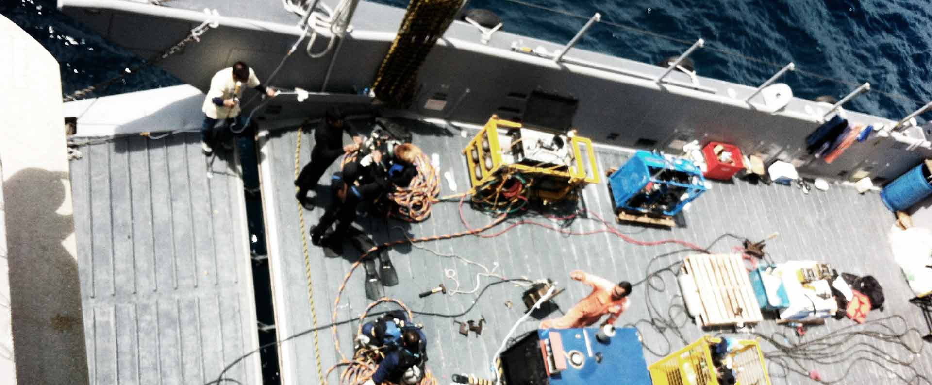 Underwater Services:   Hull Inspection and Cleaning   Remotely Operated Vehicle (ROV)