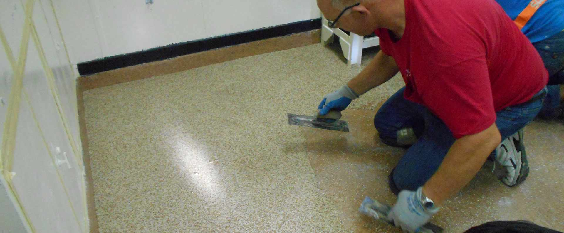 Installation of US Navy Approved/Mil-Specs Terrazzo Deck Covering